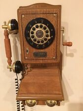 THOMAS VINTAGE RETRO ANTIQUE COUNTRY STYLE AMERICAN HERITAGE WALL PHONE OAK
