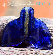 UpCycled Deep Diver Whale Tail Focal Glass Lampwork Bead Handmade SRA