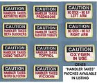 CAUTION HANDLER TAKES ---- Therapy dog - Service dog vest patch