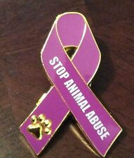 All Pets Lives Matter - Stop Animal Abuse Awareness Ribbon Lapel Pin