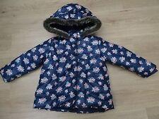 Fille la redoute 2-3 ans manteau d'hiver avec fausse fourrure capuche rose imprimé rose