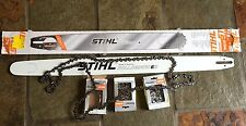 "Stihl 36"" chainsaw bar 3 Stihl 36""chains all new"