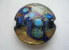 New ASTOUNDINGLY INTRICATE Lampwork GLASS Focal BEAD Pendant KING TUT Millefiori