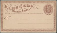#UX1 1873 POSTAL CARD XF FRESH!! LARGE US POD WATERMARK CV $400 BS8079