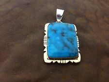 Native American Navajo Indian Jewelry Gold Filled Over Sterling Kingman Pendent