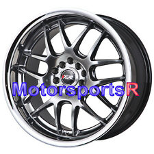 XXR 526 Wheels 18 x 9 +35 Chromium Black Deep Lip Rims 5x114.3 Mazda Rx8 Rx7 FD