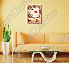 "Casino Poker Card Deck Ace Las Vegas Wall Sticker Room Interior Decor 20""X25"""