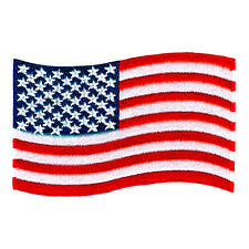 "USA FLAG AMERICAN US EMBROIDERED IRON-ON PATCH SIZE 3"" JACKET JEANS BEANIE HAT"