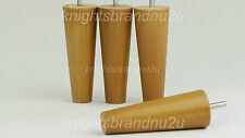 4x Sofa, Chair, Wooden Feet Replacement Settee Legs In a Oak Wood Finish M8(8mm)