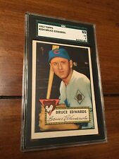 1952 TOPPS Bruce Edwards #224 EX 5 SGC 60 Chicago Cubs