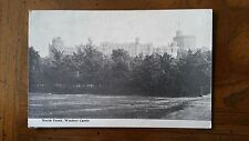 North Front Windsor Castle England Postcard Unposted early 1900s Black White