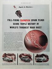 1955 Champion Spark Plugs Sports Car Stock Car Classes Score Triple Victory Ad
