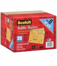 "Scotch Bubble Mailers size 0 (6"" x 9"") 25 pk Brand New Item"