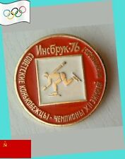 1976 USSR Olympic Speed Skating Champions Lapel Pin EX - VERY SCARCE - INNSBRUCK