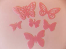 48 Precut Edible Pink Butterflies for cakes and cupcake toppers
