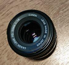 Canon fd 50mm 1:18 1.8 1,8 Objektiv schwarz gebraucht AE-1 A1 24x36 1A Zustand