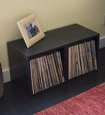 FREE SHIP Stackable Vinyl Record Storage and LP Album Cube, Black by Way Basics