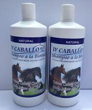 2 BOTTLES HORSE SHAMPOO & COLLAGEN 32 FL OZ / SHAMPOO DEL CABALLO & BIOTINA