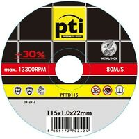 """100 Pack 115mm x 1.0mm Ultra Thin Cutting Discs for Stainless Steel INOX 4 1/2"""""""