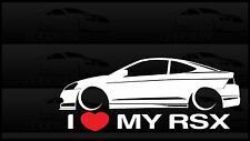 I Heart My RSX Sticker Love Slammed Low JDM Acura Honda K20 Type S