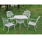5pc Garden Bistro Dining Set Cast Aluminum Patio Furniture Outdoor Table Chairs
