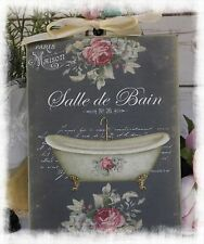 "~ Vintage ""SALLE DE BAIN""~Shabby Chic~Country Cottage style~Wall Decor Sign ~"