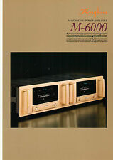 DEPLIANT accuphase m-6000 b564