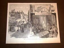 Napoli nel 1891 Inaugurazione della ferrovia funicolare di Montesanto