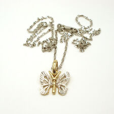 SPECIAL!! GORGEOUS 14k WHITE GOLD BUTTERFLY NECKLACE, MADE IN ITALY
