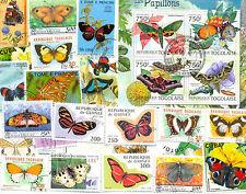 Mariposas & Polillas - 200 todos los diferentes Colección-grande-mediano-Lote Colorido