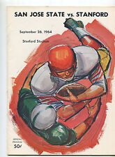 Stanford vs  San Jose State   College Football Program Sept 26,1964   MBX66