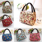 Portable owl Print Insulate Thermal Lunch Box Carry Tote Storage Bag Case Picnic