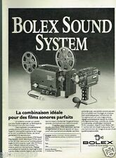 Publicité Advertising 1976 Projecteur camera Bolex