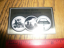 1997 New Hope Automobile Show Car Show Metal Dash Plate