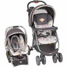 Baby Stroller And Car Seat Combo Travel System Trend Grey Bobble Head Pattern