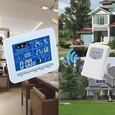 Affichage numérique sans fil Thermomètre Couleur Station Météo In & Humi