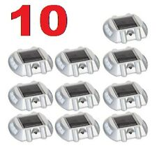 10 Pack Solar LED Markers Pathway Driveway Lights Dock Path Step Road Safety