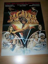 JAGUAR LEBT - Kinoplakat A1 ´83 - JOE LEWIS Barbara Bach CHRISTOPHER LEE
