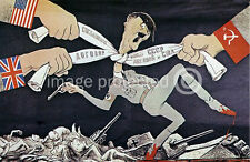 Strangle Hitler Soviet World War 2 Military Poster 18x24