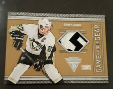 2011-12 Panini Titanium Game Worn Gear Patch #12 Sidney Crosby /25
