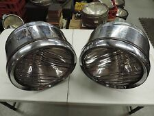 VINTAGE 1920's BAUSCH & LOMB DRUM HEADLIGHTS - PACKARD ? CADILLAC ? 1927 1928 ?