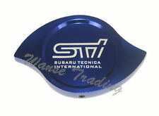 Universal STI Billet Aluminum CNC Machined Radiator Cap Cover Blue Fit SUBURA
