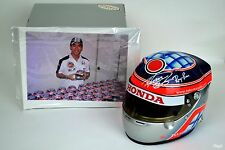 Signed Bell Sports 1/2 Scale Takuma Sato BAR Honda 006 2004 Arai Helmet F1