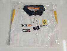 ING RENAULT F1 TEAM WOMENS POLO SHIRT NEW LARGE  7711 424 199 MULTI LOGO 2008/9