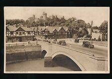 Sussex ARUNDEL River Arun bridge S Newton Gift Shop published by them PPC 1947