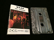 W.A.S.P. WASP LIVE IN THE RAW AUSTRALIAN 2ND PRESS CASSETTE TAPE
