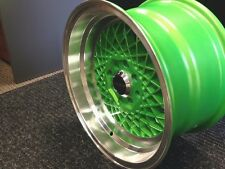 "15"" RUFF RACING R362 GREEN/MACHINED WHEELS RIMS"