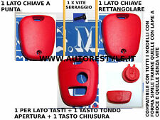 COVER CASE SHELL ROSSO FOR KEY REMOTE CONTROL 2 BUTTON PEUGEOT 206 107 207 307