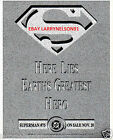 DEATH OF SUPERMAN DC COMIC BOOK PROMO POSTER HERE LIES EARTHS GREATEST HERO RIP