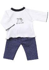 Schwenk Puppenkleidung, Winter Schlafanzug mit Applikation für 38-40 cm Puppen